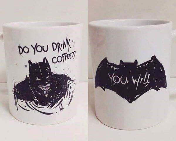 Batman Becher bemalen