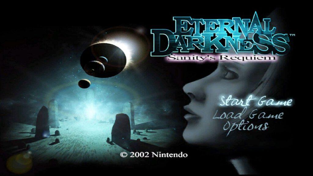 Der Startbildschirm von Eternal Darkness